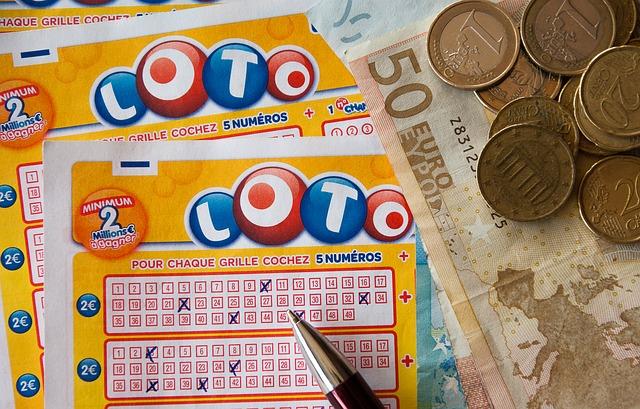 grille de chiffres au loto