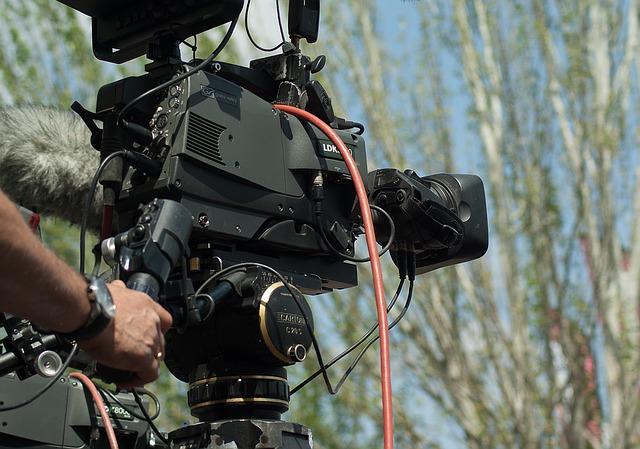 Caméra pendant un tournage de film