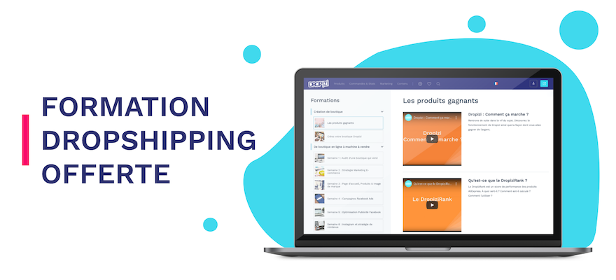 modules de formation dropshipping